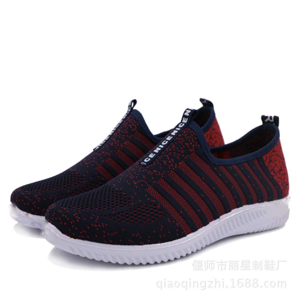 JIAODANBO Herbst Flying Woven Casual Schuhe Männer Koreanische Version des Trends der Schuhe Ein Pedal Faul Laufschuhe