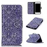 Uming® Hand Shape Magnetic button Hasp Retro Colorful Pattern Print PU case [ for IPhone 4S 4 4G IPhone4S IPhone4 ] PU Flip Holster with Stand Stander Holder Hand Free Credit Card Slot Wallet Buckle Shell Protective Mobile Cell Phone Case Cover Bag - Chaos flowers