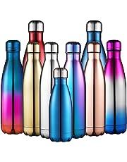 Anjoo Botella de Agua 500 ML, Deportes al Aire Libre Botella Agua Acero Inoxidable con