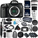 6Ave Canon EOS 7D Mark II DSLR Camera International version (No Warranty) + Canon EF 500mm f/4L IS II USM Lens + Battery Grip Wildlife and Sports Photography Bundle