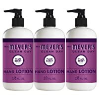 Mrs. Meyer's Clean Day Hand Lotion, Long-Lasting, Non-Greasy Moisturizer, Cruelty Free Formula, Plum Berry Scent, 12 oz- Pack of 3