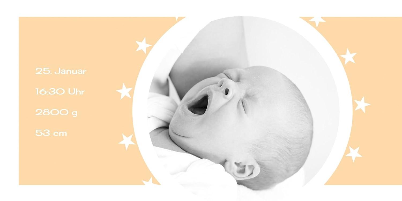 Kartenparadies Danksagung für Geburt Geburt Geburt Baby Dankeskarte a new star, hochwertige Danksagungskarte Baby inklusive Umschläge   100 Karten - (Format  215x105 mm) Farbe  Hellbraun B01N7Y41WP | Modernes Design  | Fein Verarbeitet  | Outlet Store Onlin dbbd5b