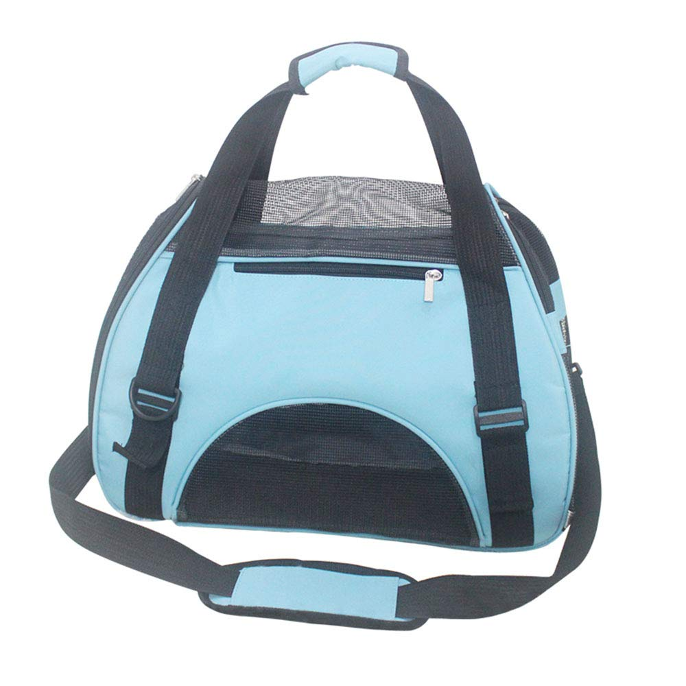 21x8.6x14(in) NIANXINAN Pet Carrier Crate Portable Collapsible Mesh Breathable Lightweight Fabric For Travel Bag