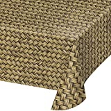 "Creative Converting 329665 TABLECOVER PL 54"" X 108"" AOP BASKET WEAVE, 54 x 108, Multicolor"
