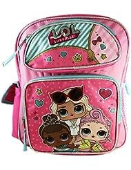 L.O.L Surprise! Large School Backpack 16 Book Bag Pink LOL bag New lol