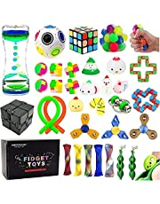 32 Pack Sensory Fidget Toys Set Stress Relief Kits for Kids Adults, Stocking Stuffers,School Classroom Rewards Carnival Party Treasure Box Prizes,Pinata Goodie Bag Fillers