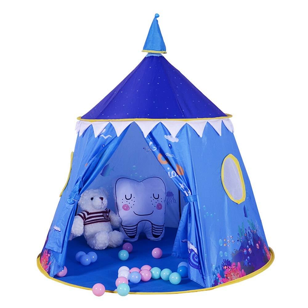 KLDYJA Umweltfreundlicher Druck Designpollution-freies Kindersicherheitszelt Junge und Mädchen Indoor Spielzeug Spielhaus blau Wigwam Kinder Fun Park (Durchmesser 3,94 Meter x 3,6 Meter hoch)