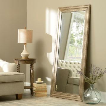 Antiqued Silver Framed Mirror, 65x32 | Kirklands