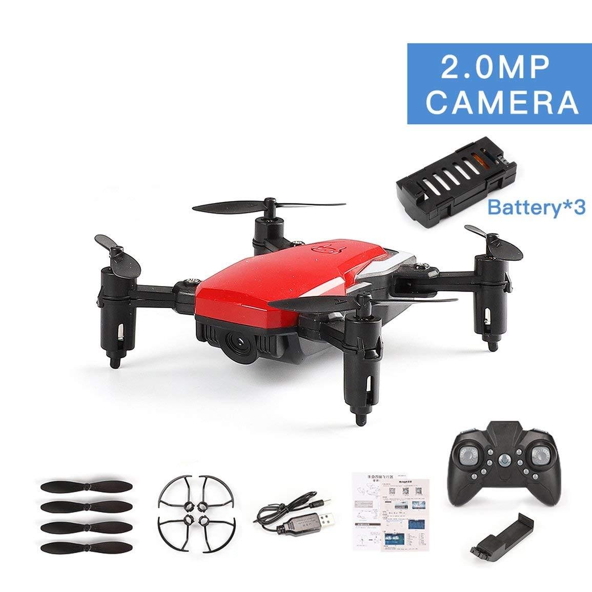Fantasyworld LF606 3 batterie Drone con 720P FPV Quadcopter Pieghevole RC Drones HD Altitudine Tenere Mini Drone Bambini Kid Toys