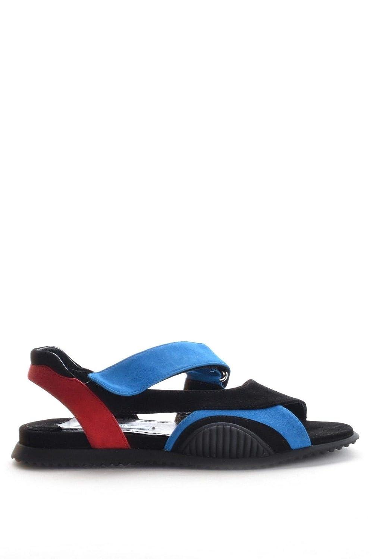 - Prada Women's MCBI15728 Black Suede Sandals