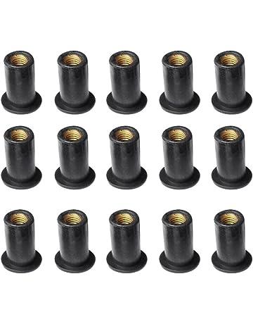 4/mm M6/x 12/mm esagono finitura nera confezione da 20 Acciaio comune connettore tappi