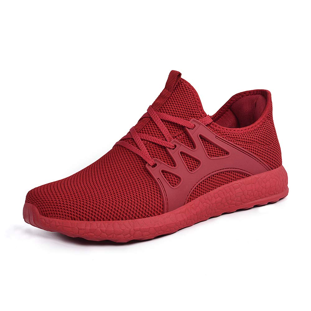 Red Mxson Women's Ultra Lightweight Breathable Mesh Street Sport Walking shoes Casual Sneakers