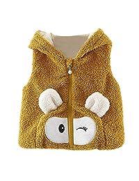 Baby Girls Boys Waistcoat Vest Jacket Coat Cute Bear Ear Winter Warm Outwear