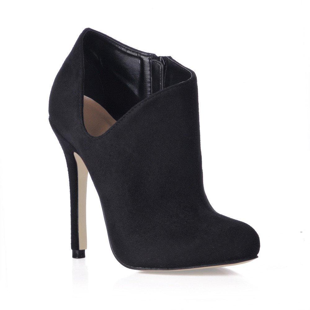 Noir bottes femme nouveaux produits chers grand démarrage noir satin chaussures à haut talon US9.5-10   EU41   UK7.5-8   CN42