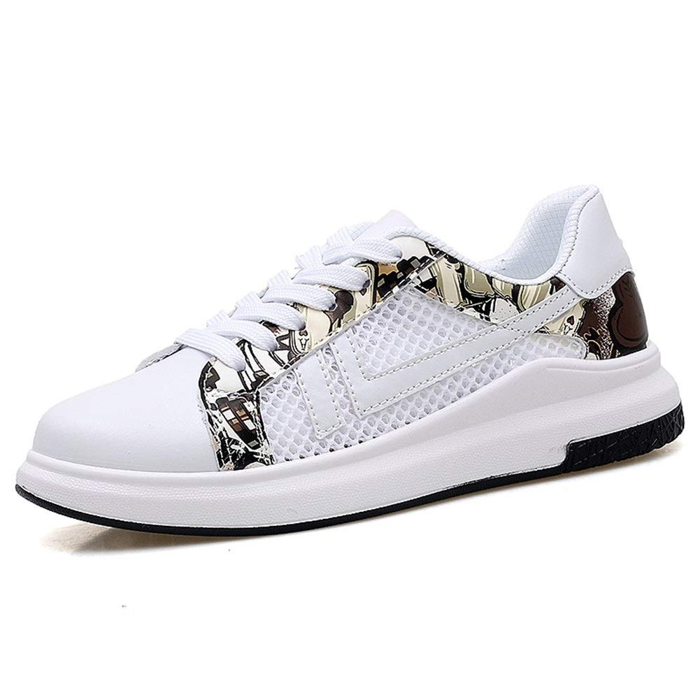 White Black 5.5 UK Fashion shoes, fashion shoes Men's Fashion Sneakers For Unisex Lace Up Style Mesh&Microfiber Leather Sports shoes Pure colors Breathable Hollow Round Toe walking Athletic shoes Comfortable shoes, brea