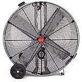 Shop-Vac Industrial Drum Fan, 48 Dia., 3/4 HP, Belt Drive, 22,000 CFM, Stainless Steel