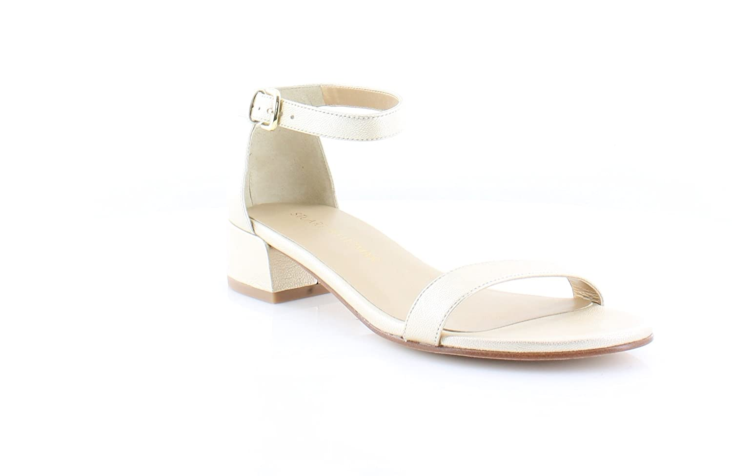 Sun Washed Stuart Weitzman Womens Leather Open Toe Casual Ankle Strap Sandals
