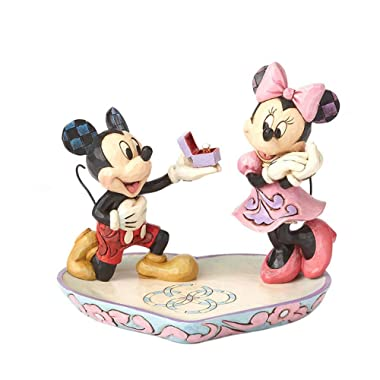 Enesco Disney Traditions by Jim Shore - Mickey Proposing to Minnie Ring Dish