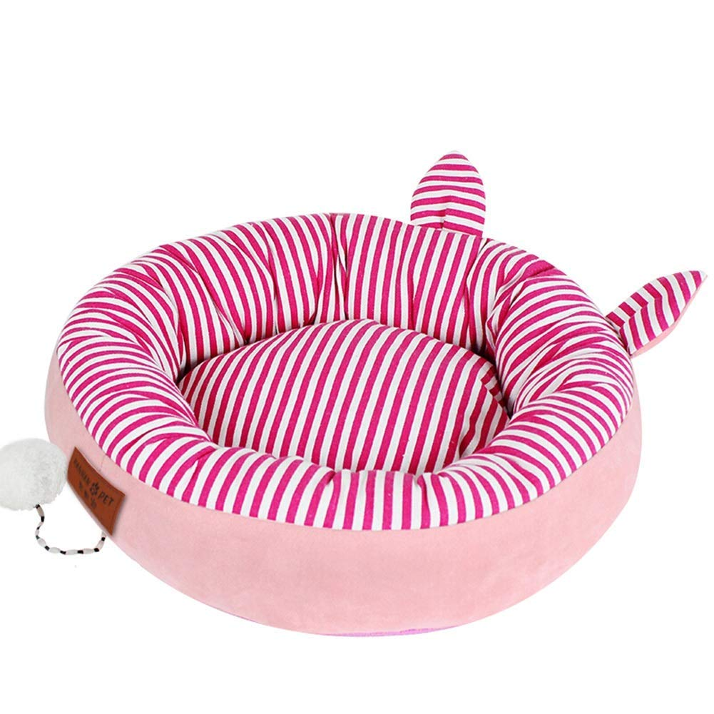 493313cm PINK 493313cm PINK Dog Bed For Small And Medium Dog Cat Washable Moisture Proof Waterproof Cat Nest Kennel Dog Cushion Mat Cat House (color   PINK, Size   49  33  13cm)