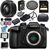 Panasonic Lumix DC-GH5 DC-GH5KBODY Mirrorless Micro Four Thirds Digital Camera Lumix G 20mm f/1.7 II ASPH. Lens (Black) Bundle