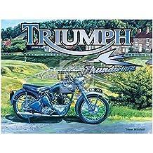 Triumph Thunderbird Metal Sign Nostalgic Vintage Retro Advertising Enamel Wall Plaque 200mm x 150mm by Original Metal Sign Co