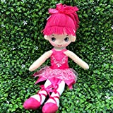 "Butterfly Craze 17"" Ballerina Doll for Little Girls' Ballet Dance Recital and Birthday Gifts (Hot Pink)"
