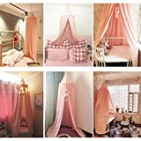 M&M Mymoon Girls Bed Canopy Reading Nook Tent Dome