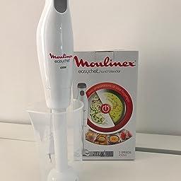 Moulinex Easychef DD4511 - Batidora de mano, 450 W, 2 velocidades, cuchillas Zelkrom, color blanco: Amazon.es: Hogar