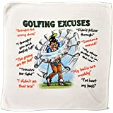 Golf Excuses Microfibre Cleaning Cloth - Perfect for cleaning Golf Balls and Gold Clubs - Makes an Ideal Gift by personalised4u