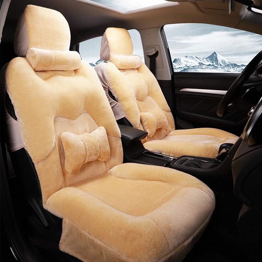 カーカーシートプロテクター用シートカバー 冬のハンドルカバー短い豪華な車のハンドル暖かい自動車用品 カーシートクッションカーシートマット