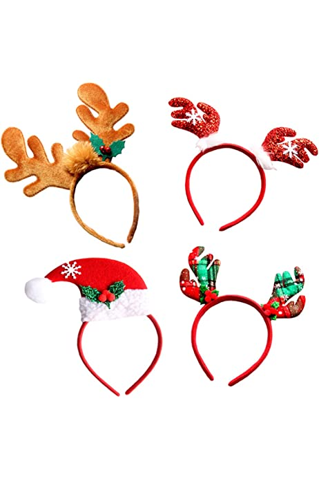 KIDS ADULTS CHRISTMAS TREE HEAD HAIR BAND HAIRBAND HEADWEAR CHRISTMAS GIFT FADDI