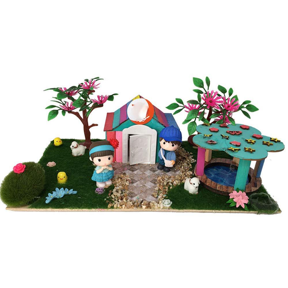 creativa bricolaje 3d mini casa Casa manual manual manual de bricolaje monta juguete de madera chino patio modelo de edificio 3 D regalos creativos para nintilde;os regalo creativo para nintilde;os y nintilde;as Regalos de cumpleantilde;o 900053