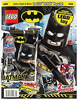 Lego minifigure figure magazine batman knight dc comics grey version