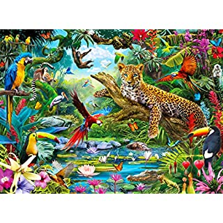 Buffalo Games - Leopard Jungle - 1000 Piece Jigsaw Puzzle