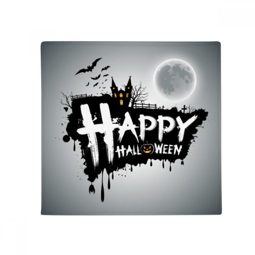 DIYthinker Halloween Ghost Fear Happy Anti-Slip Floor Pet Mat Square Home Kitchen Door 80Cm Gift
