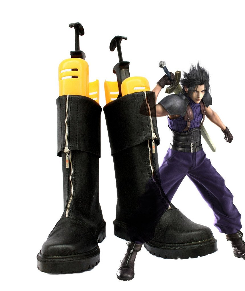 Crisis Core Final Fantasy VII FF7 Zack Fair Cosplay Shoes Boots Custom Made 5.5 B(M) US Female