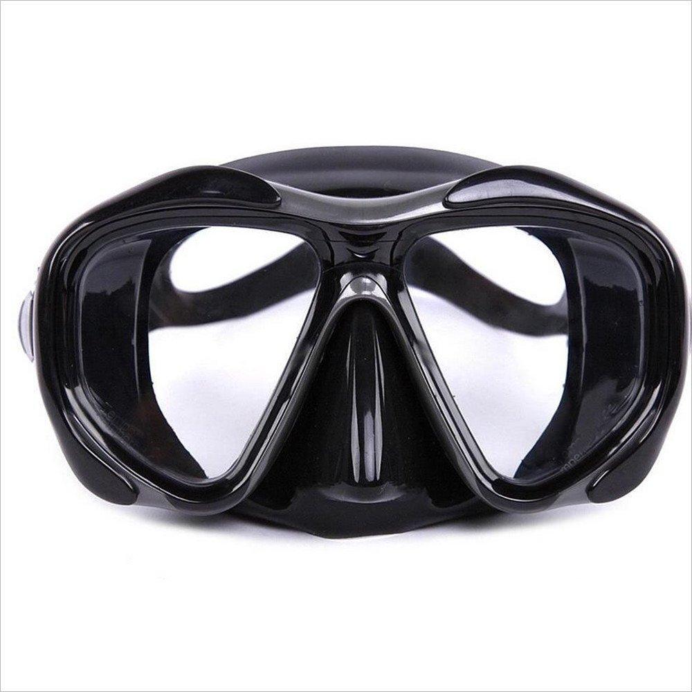 Masque de plongée, Lunettes de plongée en gel de silice de haute qualité pour les adultes Lunettes de plongée en apnée de plongée en apnée Lunettes de plongée Masque de plongée avec sangle de