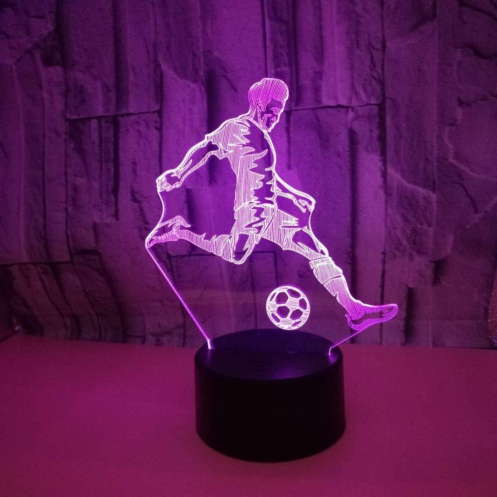 YUANHAO Juega fútbol fútbol fútbol 3D luz Nocturna Toque Colorido LED luz Visual Regalo hogar Ambiente acrílico c138f4