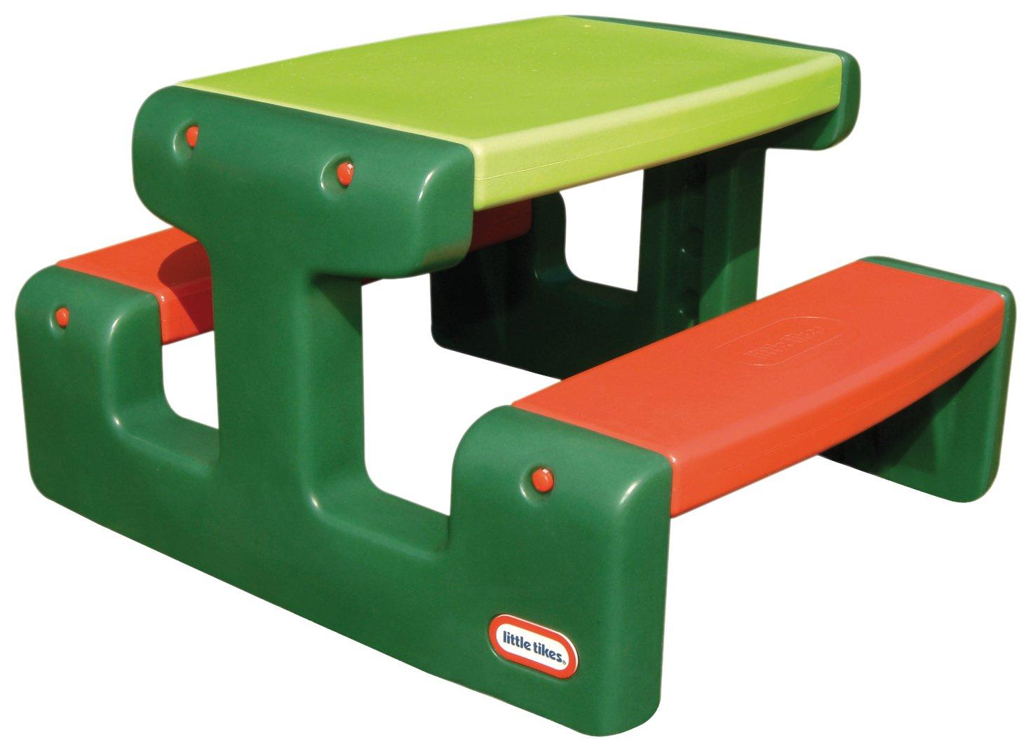Little Tikes 479A - Mesa de picnic para niños (importado de Alemania), color verde y rojo