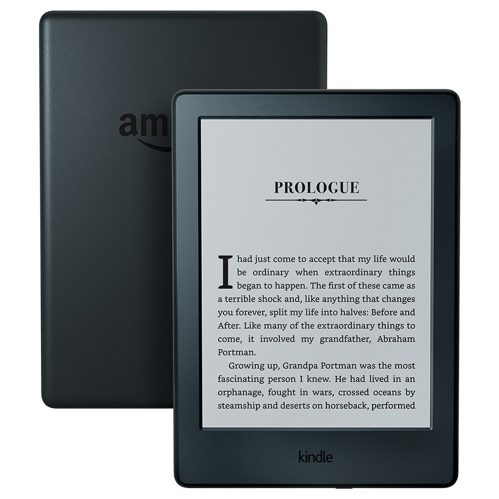 """Kindle E-reader - Black, 6"""" Glare-Free Touchscreen Display, Wi-Fi, Built-In Audible - Includes Special Offers"""