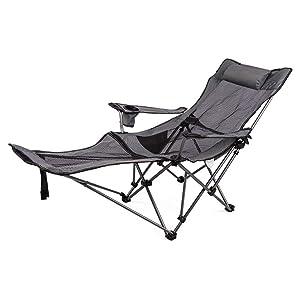 Dawn DAWN160 Tumbona Sillón reclinable Plegable al Aire Libre de Acampada Silla de Playa para el Almuerzo Sillón de Oficina Silla de Oficina Trona para el hogar Ajuste de la Silla Style-1