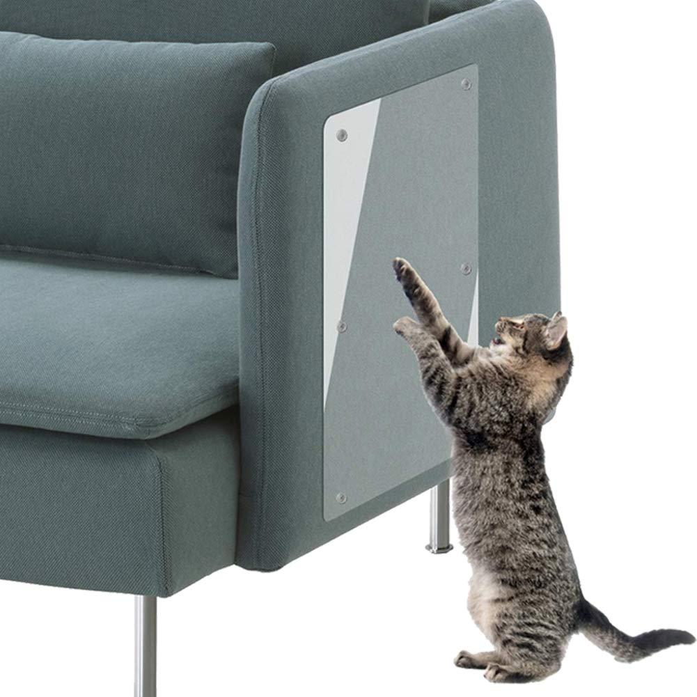 For Fabric(24\ PetIsay Premium Cat Scratch Deterrent Tape(Set of 4, Clear, 24  L X 8  W), Heavy Duty Thick Vinyl Anti-Scratch Cat Training Pad, Couch Corner Guard, Cat Scratch Furniture Predector