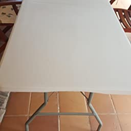 KitGarden Folding 122 - Mesa Plegable, color Blanco, 122x60x52/74 cm: Amazon.es: Jardín