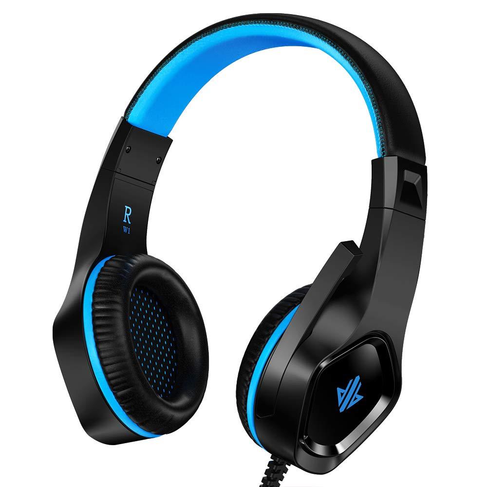 Auriculares Gaming para PS4, Versión mejorada de Cascos ultralivianos,Gaming Headset Estéreo (con