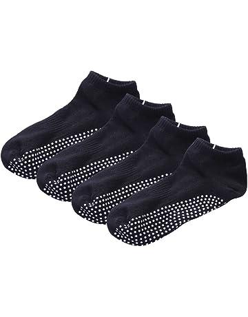 G 4 Paires Coton Chaussettes de Yoga Antidérapant Chaussette pour Yoga  Pilates Barre Gym 816c01ffe2f