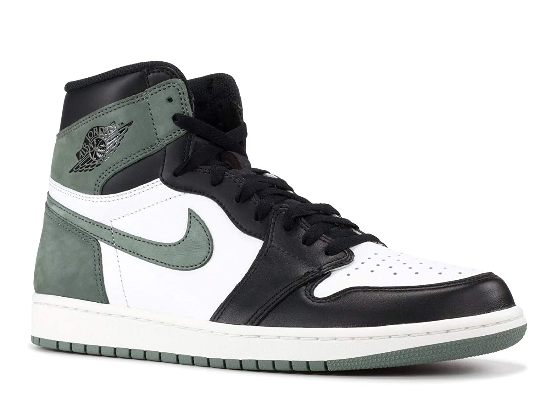 - Nike Air Jordan 1 Retro High OG - Summit Weiß Clay Grün-schwarz - Basketball-Schuhe-Herren