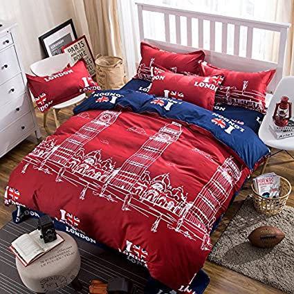 bedding Adult red