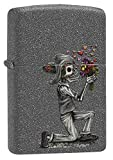 Zippo Skeleton Flowers Iron Stone Gift Set Pocket