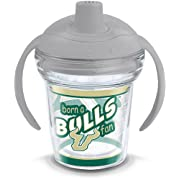 Tervis 1292427 USF Bulls Born a Fan Tumbler with Wrap and Moondust Gray Lid, 6oz My First Sippy Cup, Clear