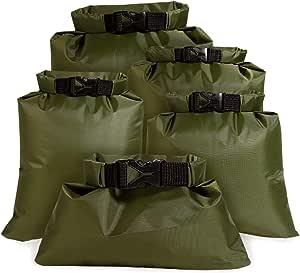 4.5L Waterproof Dry Bag Set 2.5L Lightweight Combo with 1.5L 3.5 6L Sacks,